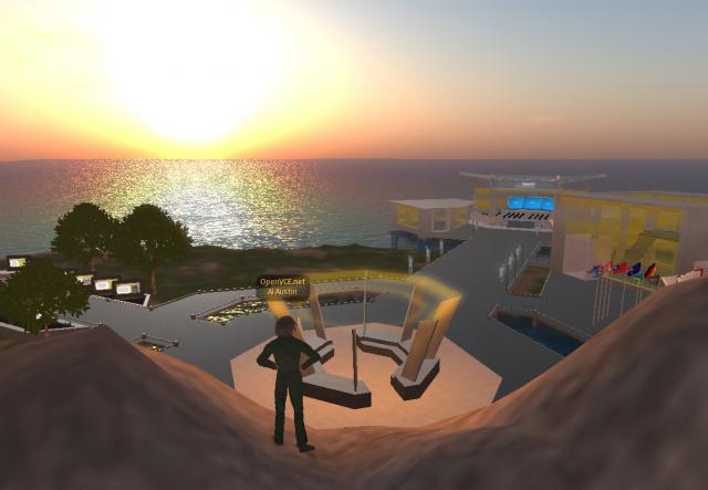 2009-12-10-Opensim-NewVCE-Sunset