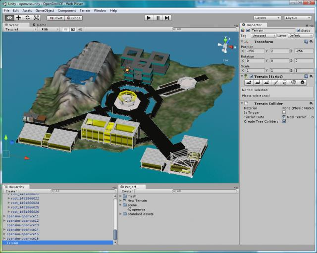 ... Assets moved from OpenSim to Unity3D via Tipodean Collada Converter